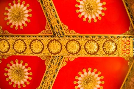 Thai Style Art at Chaimongkol pagoda, Roi et Province Thailand Stock Photo - 16742432