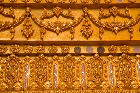 Thai Style Art at Chaimongkol pagoda, Roi et Province Thailand