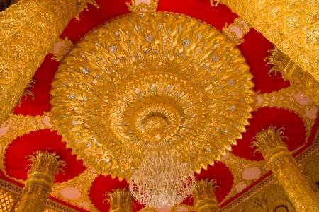 Thai Ceiling Style Art at Chaimongkol pagoda, Roi et Province Thailand