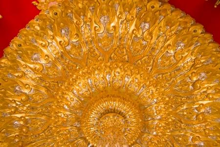 Thai Ceiling Style Art at Chaimongkol pagoda, Roi et Province Thailand photo