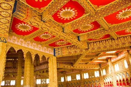 Thai Style Ceiling Art at Chaimongkol pagoda, Roi et Province Thailand Stock Photo - 16722227