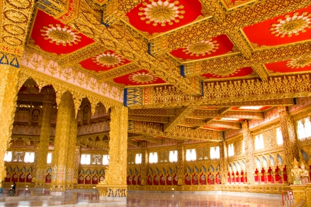Thai Style Ceiling Art at Chaimongkol pagoda, Roi et Province Thailand Stock Photo - 16722225