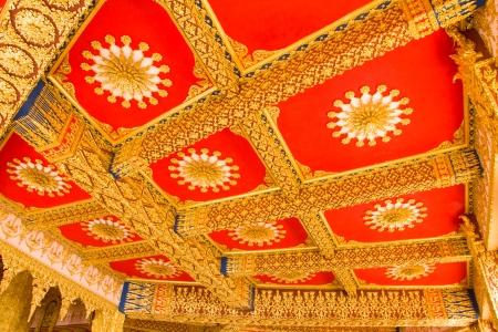 Thai Style Ceiling Art at Chaimongkol pagoda, Roi et Province Thailand Stock Photo - 16722231