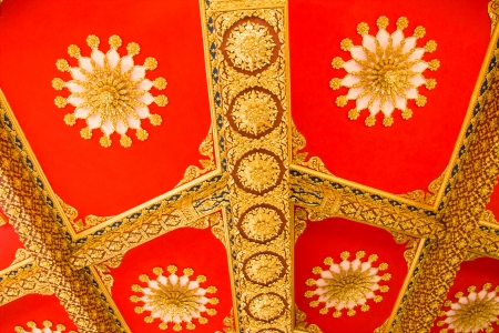 Thai Style Ceiling Art at Chaimongkol pagoda, Roi et Province Thailand Stock Photo - 16722228