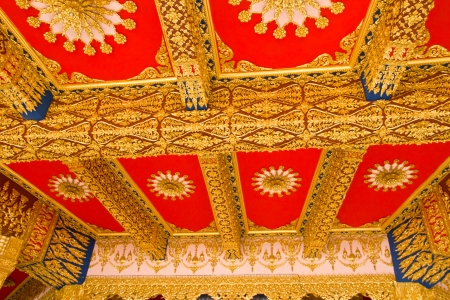 Thai Style Ceiling Art at Chaimongkol pagoda, Roi et Province Thailand Stock Photo - 16722230