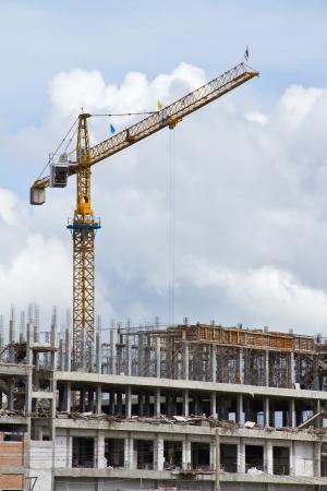 La construcci?n de la gr?a en el sitio