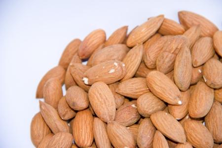 almond on white isolate background photo