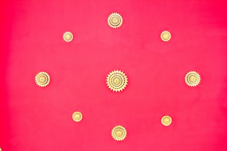 Red ceiling of thai temple Stock Photo - 17440913