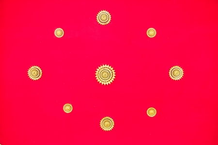 Red ceiling of thai temple photo