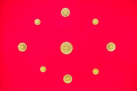 Red ceiling of thai temple Stock Photo - 17440971