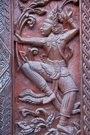 Thai style carving wood at thai temple Stock Photo - 17731974