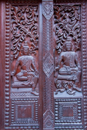 Thai style carving wood at thai temple Stock Photo - 17731966