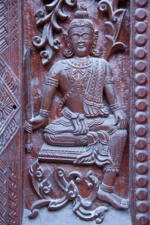 Thai style carving wood at thai temple Stock Photo - 17731975