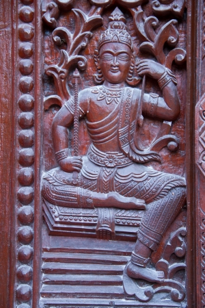 Thai style carving wood at thai temple Stock Photo - 17731968