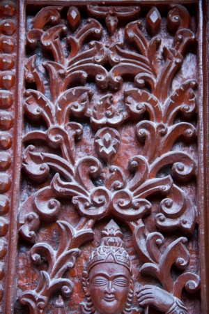 Thai style carving wood at thai temple Stock Photo - 17731950