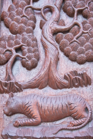 Thai style carving wood at thai temple Stock Photo - 17731956