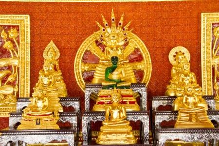 sermon: Gold buddha in thai temple