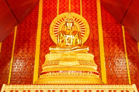 Gold buddha in thai temple photo