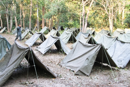 re enaction: Military tents Stock Photo