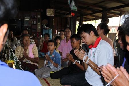 rituales: Baisi rituales en Tailandia Editorial