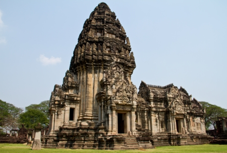 Pimai ancient temple in Nakornratchasima Province, Thailand  Stock Photo