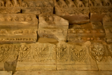 Art on stone at Pimai ancient temple in Nakornratchasima Province, Thailand  photo
