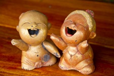ceramica: ceramic doll Stock Photo