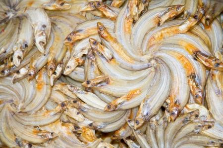 grilled fish,dried fish on market Thailand