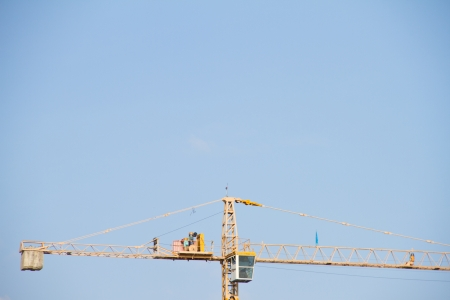 Crane construction site, Thailand photo