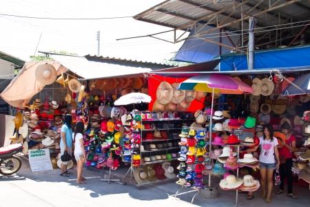 Damnoen Saduak Floating Market at Ratchaburi Province Thailand