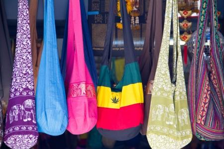 Bags at the Damnoen Saduak floating market of Thailand   photo