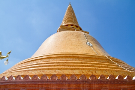 Phra Pathom Chedi at Nakhonpathom Province, Thailand photo