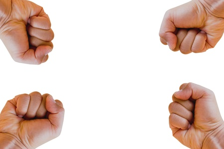 Hand fist, isolated on a white background photo