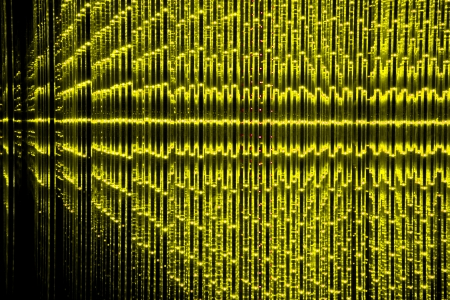 Yellow Abstract LED background Stock Photo