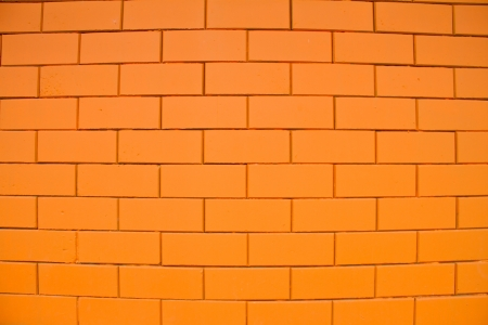 Orange brick background photo