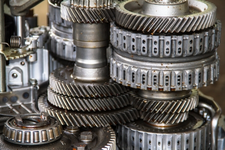 Close up of gearbox Stock Photo