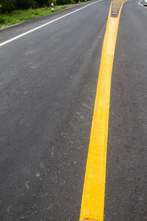 yellow line on the road texture background Stock Photo - 22022546