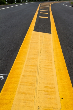 yellow line on the road texture background Stock Photo - 22022554