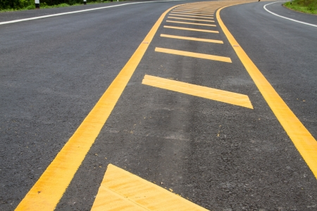 yellow line on the road texture background Stock Photo - 22022560