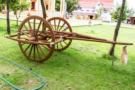 Wooden cart Thai Style in Thailand Garden Stock Photo - 22134399