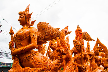 orenge: Thai carving wax in candle festival