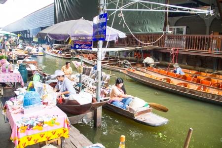march� flottant: Damnoen Saduak march� flottant, Ratchaburi, Tha�lande Editeur