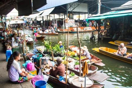 Damnoen Saduak floating market, Ratchaburi,Thailand