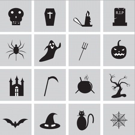 Halloween icon besics Vector