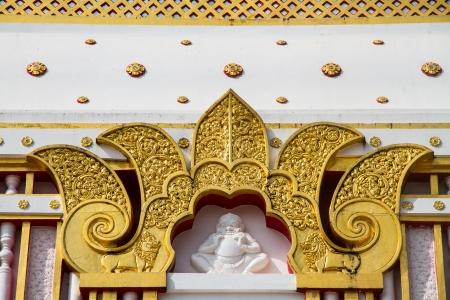 northeastern: Thai style art at Wat Prathat Panom, Nakornpanom province, northeastern of Thailand Stock Photo