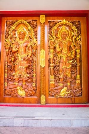 northeastern: Thai style art at Wat Prathat Panom, Nakornpanom province, northeastern of Thailand Editorial