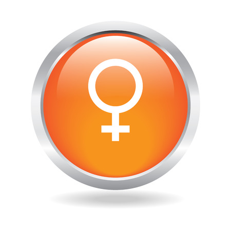 Gender button with white  Vector