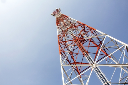 Mobile communication tower photo