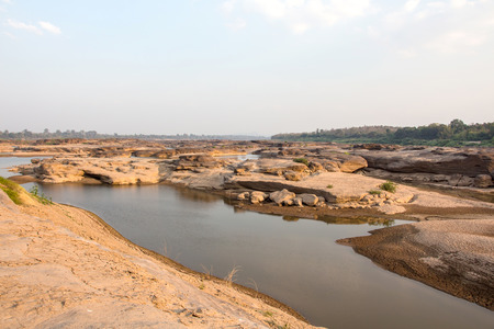 Sampanbok  3,000 Hole  Grand canyon at Ubonratchathani Province Thailand