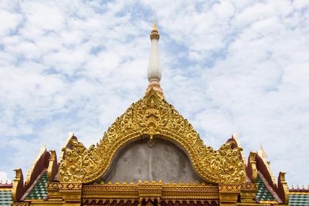 venerable: Thai stye art at the temple Thailand
